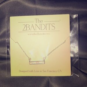 NEW!  Never Opened!  The 2Bandits bar necklace